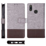For OPPO Realme 3 Pro MUXMA MX102 Horizontal Flip Canvas Leather Case with Stand & Card Slot & Wallet Function (Brown)