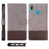 For Huawei Y7 Pro (2019) MUXMA MX102 Horizontal Flip Canvas Leather Case with Stand & Card Slot & Wallet Function (Brown)