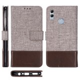 For Huawei Honor 10 Lite MUXMA MX102 Horizontal Flip Canvas Leather Case with Stand & Card Slot & Wallet Function (Brown)
