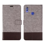 For Huawei Honor Note 10 MUXMA MX102 Horizontal Flip Canvas Leather Case with Stand & Card Slot & Wallet Function (Brown)