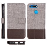 For Huawei Honor V20 MUXMA MX102 Horizontal Flip Canvas Leather Case with Stand & Card Slot & Wallet Function (Brown)