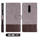 For OnePlus 7 Pro MUXMA MX102 Horizontal Flip Canvas Leather Case with Stand & Card Slot & Wallet Function (Brown)
