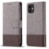 For iPhone 11 Pro Max MUXMA MX102 Horizontal Flip Canvas Leather Case with Stand & Card Slot & Wallet Function (Brown)