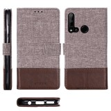 For Huawei P20 Lite (2019) MUXMA MX102 Horizontal Flip Canvas Leather Case with Stand & Card Slot & Wallet Function (Brown)
