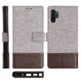 For Galaxy Note 10 Pro MUXMA MX102 Horizontal Flip Canvas Leather Case with Stand & Card Slot & Wallet Function (Brown)