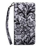 For OnePlus 7 Pro / 7T Pro 3D Painting Pattern Coloured Drawing Horizontal Flip TPU + PU Leather Case with Holder & Card Slots & Wallet (Black Lace)