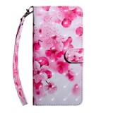 For OnePlus 7 Pro / 7T Pro 3D Painting Pattern Coloured Drawing Horizontal Flip TPU + PU Leather Case with Holder & Card Slots & Wallet (Red Flower)