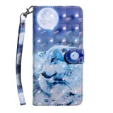 For OnePlus 7 Pro / 7T Pro 3D Painting Pattern Coloured Drawing Horizontal Flip TPU + PU Leather Case with Holder & Card Slots & Wallet (Moon Wolf)