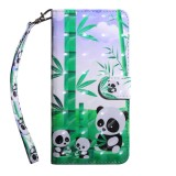 For OnePlus 7 Pro / 7T Pro 3D Painting Pattern Coloured Drawing Horizontal Flip TPU + PU Leather Case with Holder & Card Slots & Wallet (Bamboo Panda)