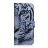 For Huawei Nova 5i Pro/Mate 30 Lite Coloured Drawing Pattern Horizontal Flip PU Leather Case with Holder & Card Slots & Wallet (Tiger)