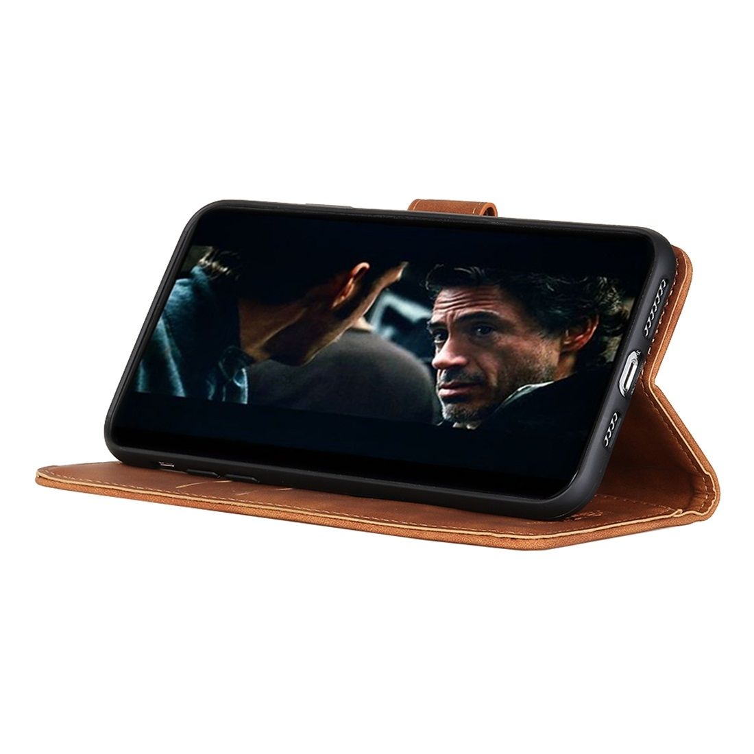 For Galaxy A20 / A30 / M10s Retro Texture PU + TPU Horizontal Flip Leather Case with Holder & Card Slots & Wallet (Brown)