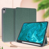 For iPad Pro 10.5 Mutural Exquisite Series Cloth Texture PU+TPU Leather Case with 3-Fold Holder & Pen Slot & Sleep & Wake-up Function (Green)