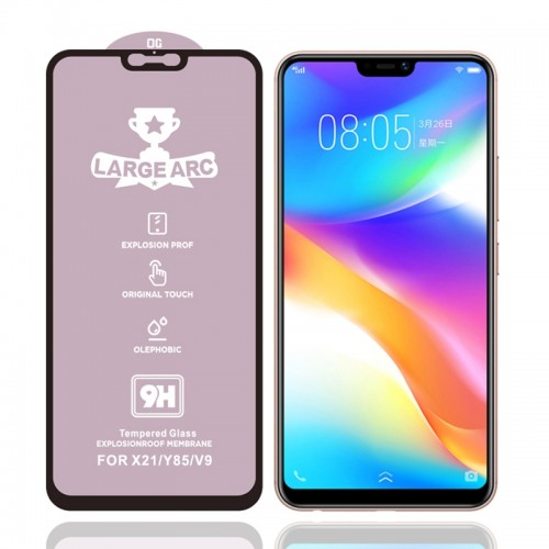 For Vivo V9 Youth 9H HD Large Arc High Alumina Full Screen Tempered Glass Film