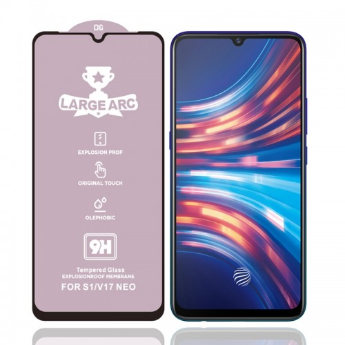 For Vivo V17 Neo 9H HD Large Arc High Alumina Full Screen Tempered Glass Film