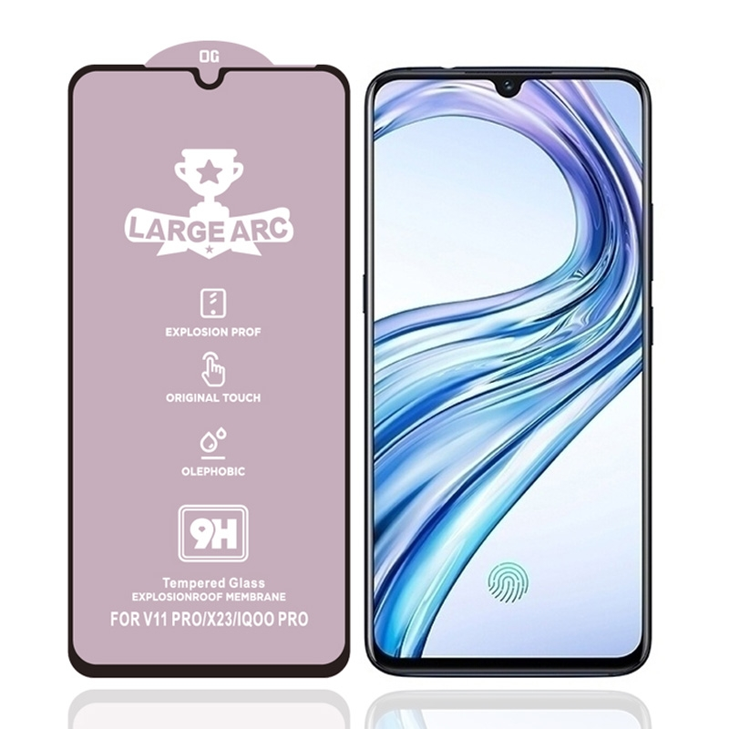 For Vivo X23 9H HD Large Arc High Alumina Full Screen Tempered Glass Film