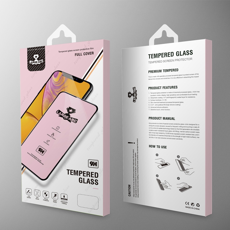 For Vivo Y15 9H HD Large Arc High Alumina Full Screen Tempered Glass Film