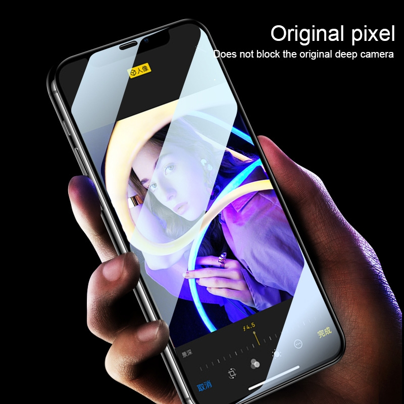 For Vivo Y90 9H HD Large Arc High Alumina Full Screen Tempered Glass Film