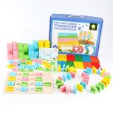 200 PCS Digital Computing Dominoes Children Early Education Intelligence Building Blocks Toys, Suitable for Age: 3-7 Years Old
