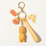 JOYROOM FM-Y01 ADOONGA Cat Style Keychain Decoration (Orange)