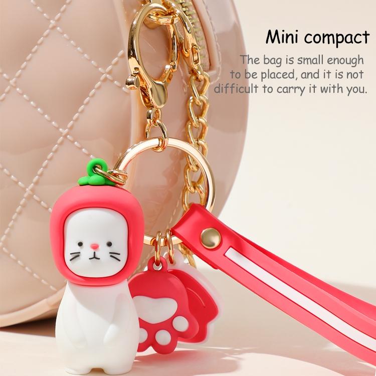JOYROOM FM-Y01 ADOONGA Cat Style Keychain Decoration (White)