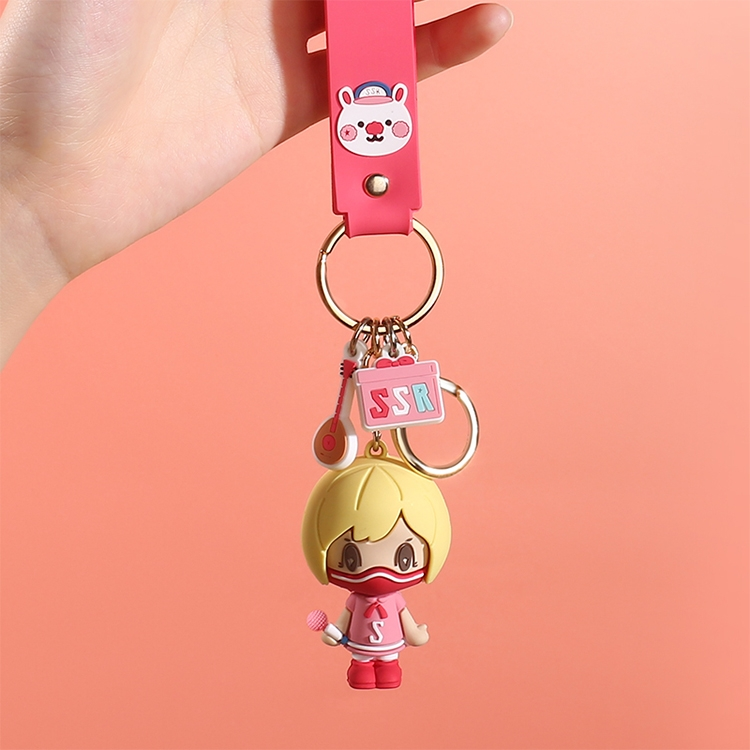 JOYROOM FS-Y01 ADOONGA Sing Sing Rabbit Style Keychain Decoration (Watermelon Red)