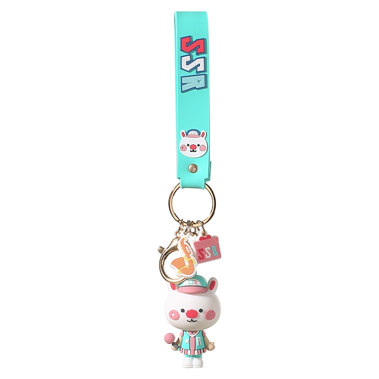 JOYROOM FS-Y01 ADOONGA Sing Sing Rabbit Style Keychain Decoration (Mint Green)