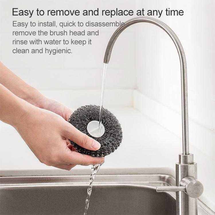Original Xiaomi Jotun Judy PP Handle Stainless Steel Ball Cleaning Brush Washing Pot Brush Kitchen Tool Kit with 3PCS Replacement Brush Head
