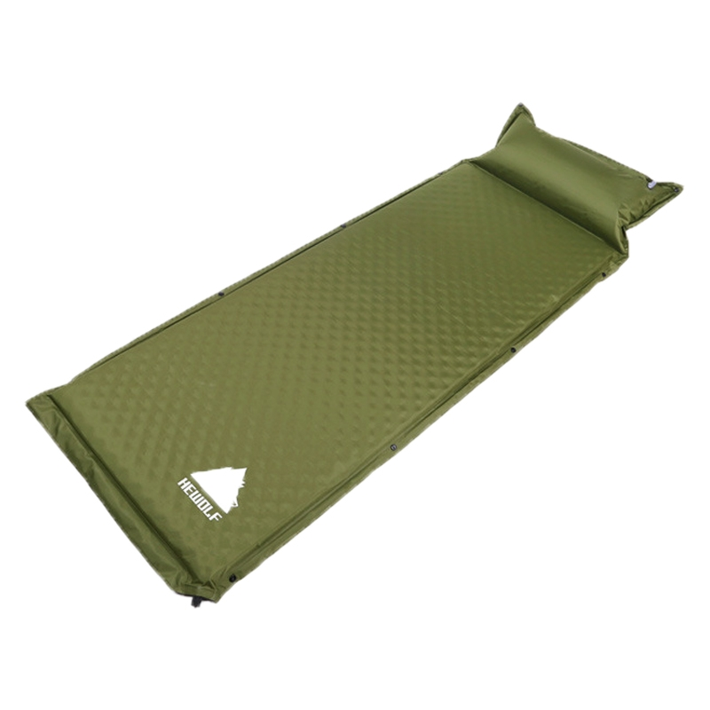 Hewolf 1892 Outdoor Camping Single Automatic Inflatable Pad Sleeping Mattress, Size: 188x65x5cm (Army Green)