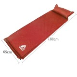 Hewolf 1892 Outdoor Camping Single Automatic Inflatable Pad Sleeping Mattress, Size: 188x65x5cm (Red)