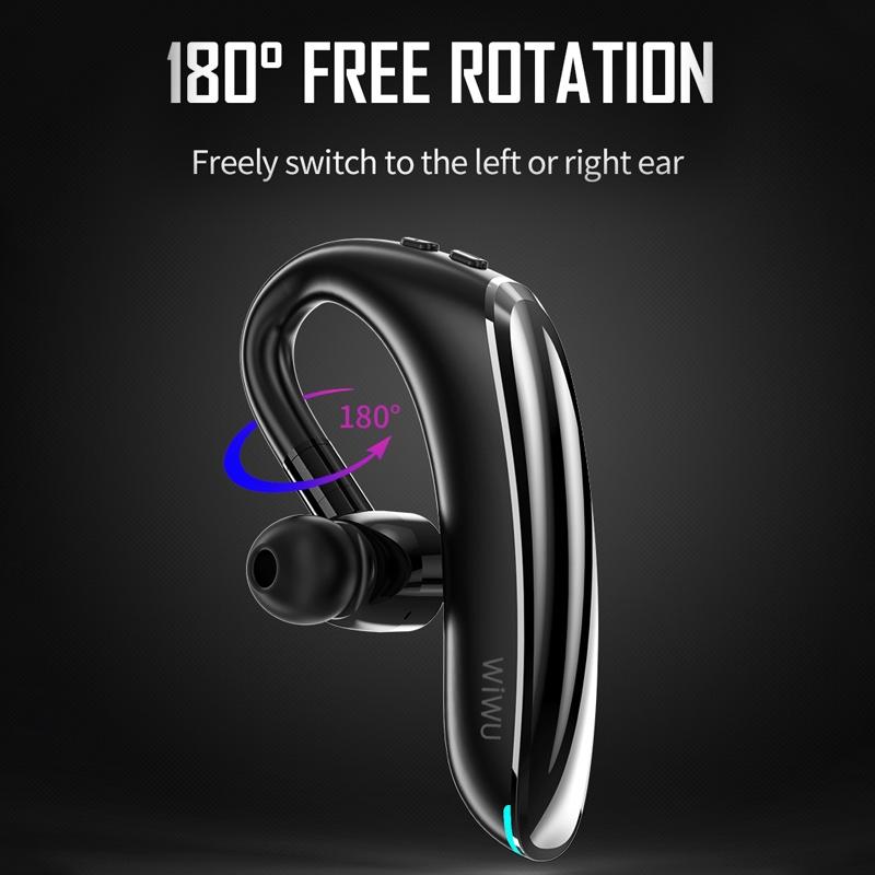 WIWU Solo Max Bluetooth 5.0 Business Style Single Ear Bluetooth Earphone