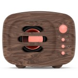 B11 Bluetooth 5.0 Retro Style Wireless Bluetooth Speaker, Supports Hands-free Calling & 32GB TF Card & 3.5mm Audio Jack (Wood)