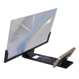F3 14 inch Radiation Protection Universal Mobile Phone Screen Amplifier 3D HD Video Amplifier with Stand (Black)
