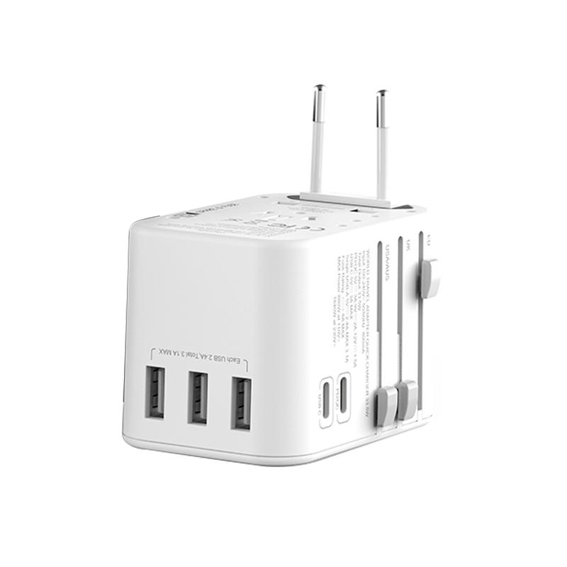 WIWU UA303 多功能国际充电器 (https://www.wiwu.net.cn/) 国际充电器 第2张