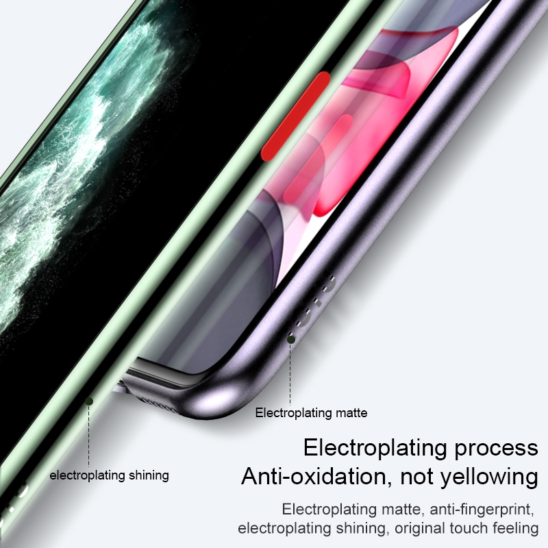 For iPhone 11 Pro TOTUDESIGN Soft Jane Pro Series Shockproof Electroplating TPU Protective Case (Gold)