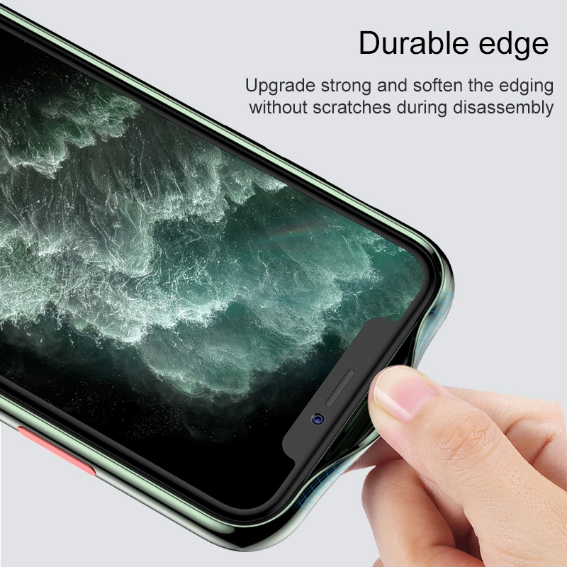 For iPhone 11 Pro Max TOTUDESIGN Soft Jane Pro Series Shockproof Electroplating TPU Protective Case (Silver)