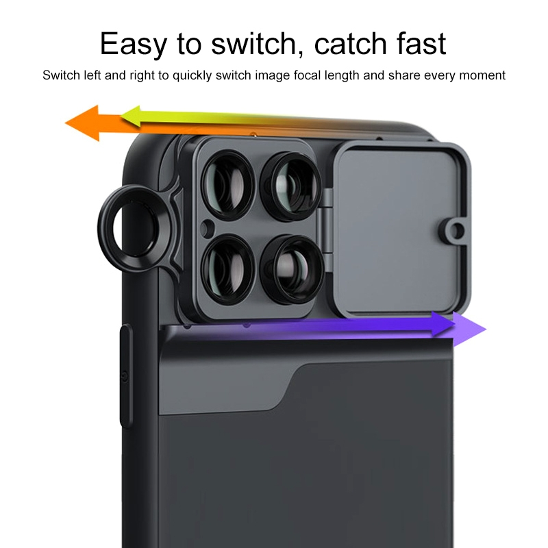 Mobile Phone Lens Wide Angle Fisheye Macro Telephoto CPL Phone Case for iPhone 11 Pro