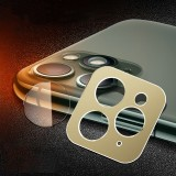 Rear Camera Lens Protection Ring Cover + Rear Camera Lens Protective Film Set for iPhone 11 Pro / 11 Pro Max (Gold)