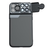Mobile Phone Lens Wide Angle Fisheye Macro Telephoto CPL Phone Case for iPhone 11 Pro Max