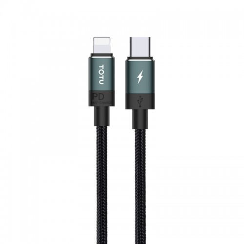 TOTUDESIGN Speedy Series BPD-001 PD USB-C / Type-C to 8 Pin Interface Fast Charge Data Sync Data Cable, Cable Length: 1.2m (Green)