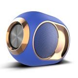 X6 TWS Outdoor Waterproof Bass Wireless Bluetooth Speaker, Support Hands-free / USB / AUX / TF Card (Blue)