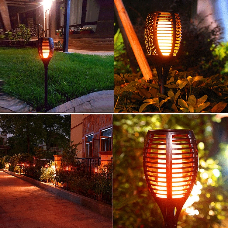 96 LED Solar Flame Light Outdoor Garden Lawn Light Garden Landscape Torch Light