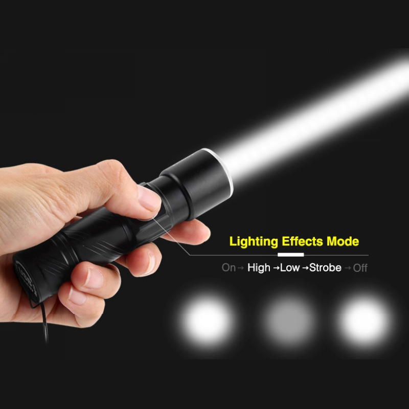Ultra Bright Rechargeable LED Torch Flashlight