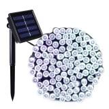 200 LEDs Outdoor Waterproof Christmas Festival Decoration Solar Lamp String, Length: 22m (White)