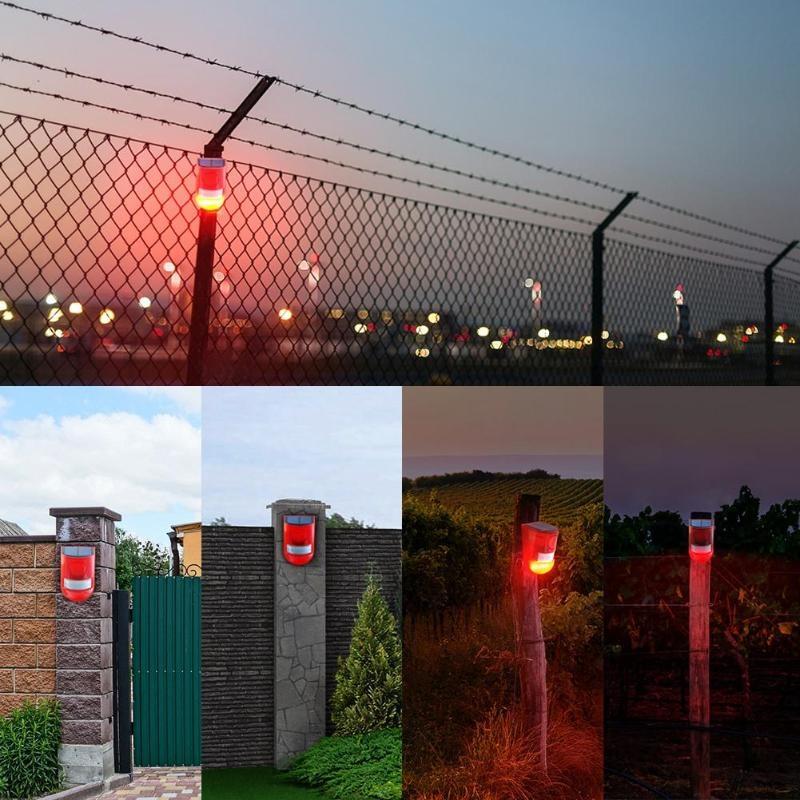 Solar Powered Sound-light Alarm Warning Light IP65 Waterproof 110 dB Burglar Alarm