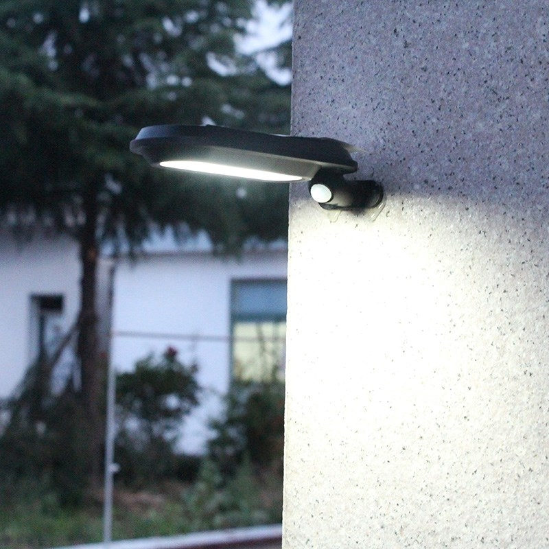 18 LEDs 600LM IP65 Waterproof Solar Powered Garden Lamp Body Induction Light Street Lamp
