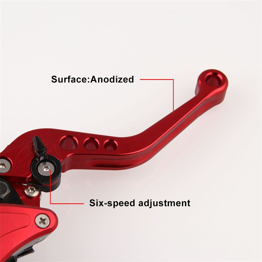 Leaf Shape Modified Motorcycle Hand Brake Clutch Hydraulic Brake Lever (Red)