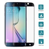 25 PCS For Galaxy S6 Edge Plus / G928 0.3mm 9H Surface Hardness 3D Curved Surface Full Screen Cover Explosion-proof Tempered Glass Film (Black)