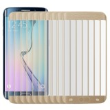 25 PCS For Galaxy S6 Edge Plus / G928 0.3mm 9H Surface Hardness 3D Curved Surface Full Screen Cover Explosion-proof Tempered Glass Film (Gold)