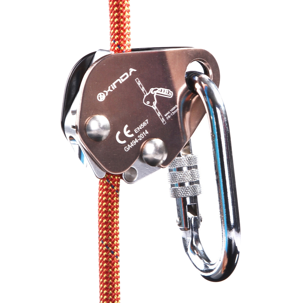 XINDA EN567 Outdoor Rock Climbing Aerial Work Anti-fall Rope Gripper for 8-13mm Diameter Rope