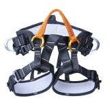 XINDA XDA9519 Outdoor Polyester High-strength Wire Downhill Seat Belt for Climbing Trees (Orange)